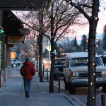 Going for a stroll down main street in Hailey, ID.
