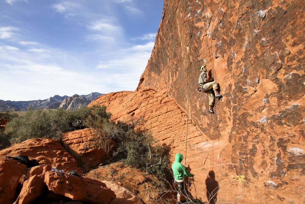 Alf on a 10b at the Gallery. Rumor has it he is hooked on climbing. Let's just hope he finishes up in Anchorage soon.