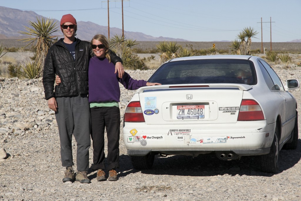 Celebrating 400,000 miles with Trixie in the Nevada desert.