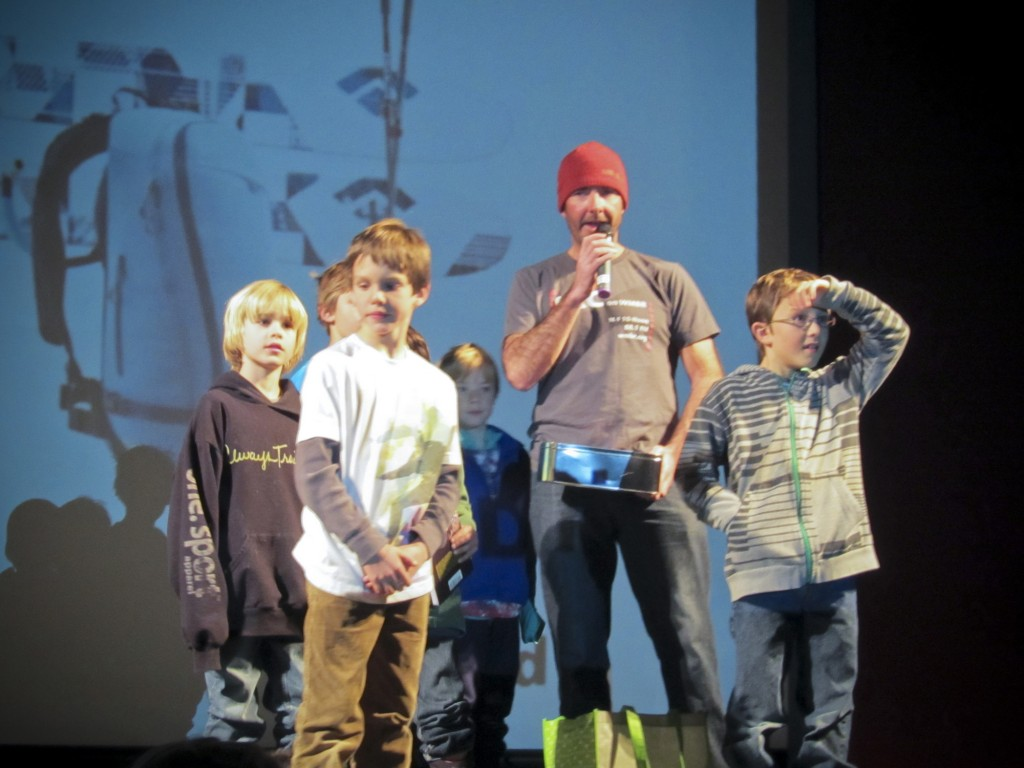 The kids loved handing out the raffle prizes including our new Friends of the Sawtooth Avalanche Center hat!