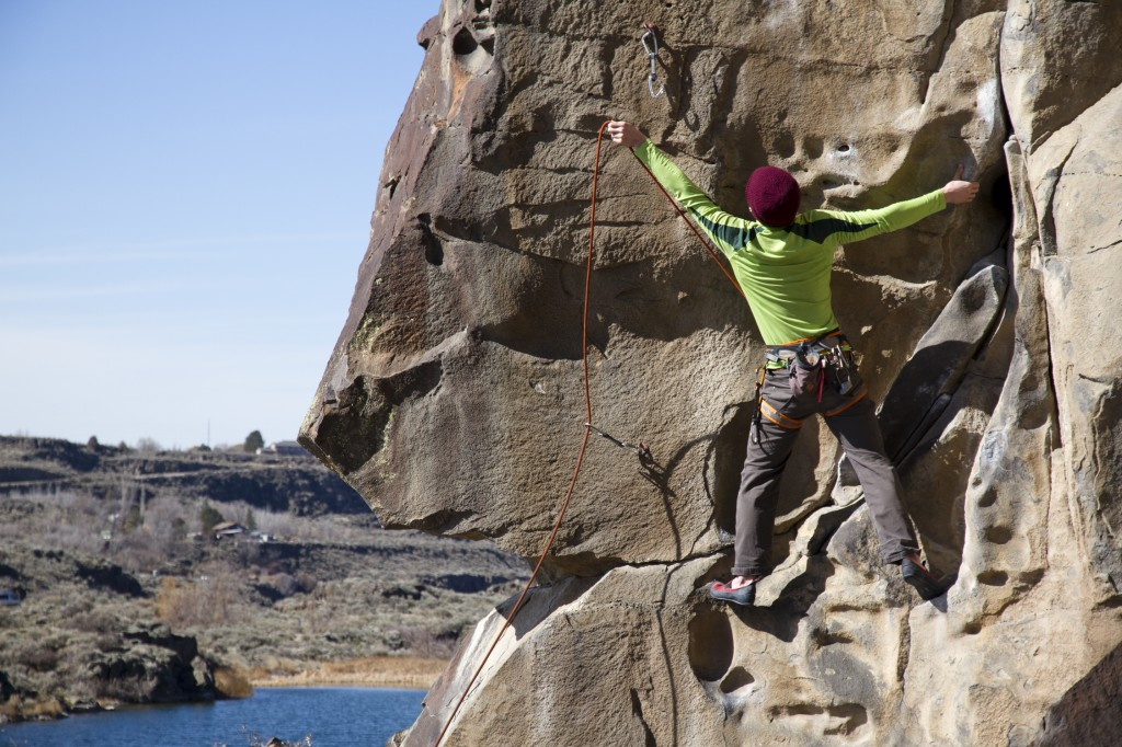 It was just to pretty a scene to take just one shot.. Here is Ben starting up the face of Air-rete (5.10a)