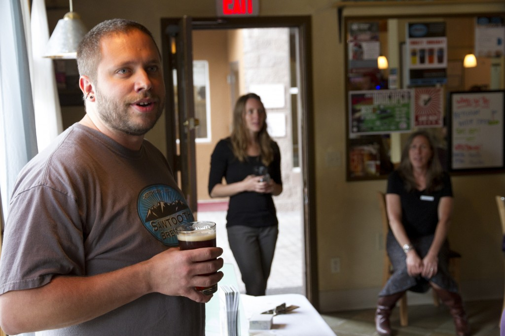 Paul giving the beer talk.