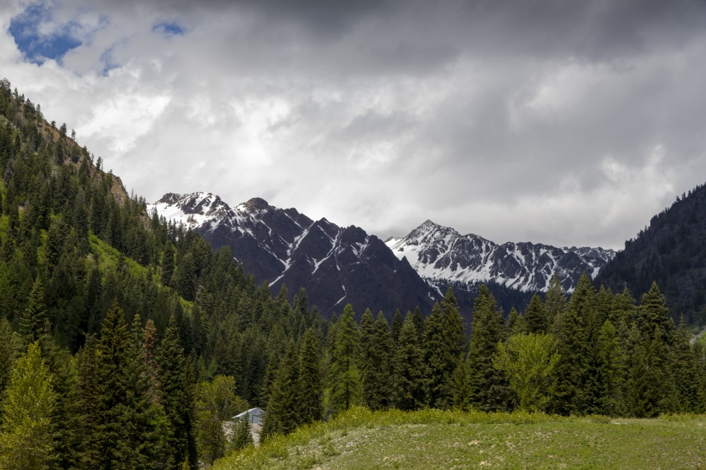 The view from our exploration of Cornucopia, an abandoned mining town in the Wallowa Mountains.