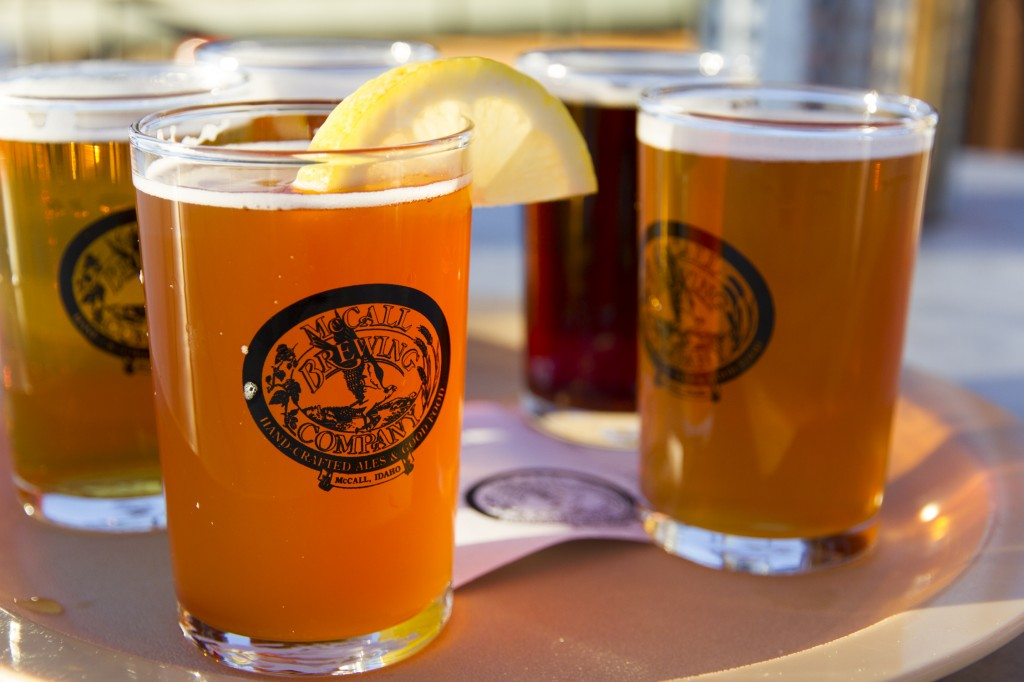 "Sampler from McCall Brewing Company. We tried to find Ponderosa State Park after this but ended up on a dead end road. That's the great thing about camping though. ""Well, we were lost, but now we live here!"""