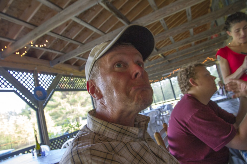 I think at this point my dad is exacting revenge for all the family photos I flipped off the camera in.