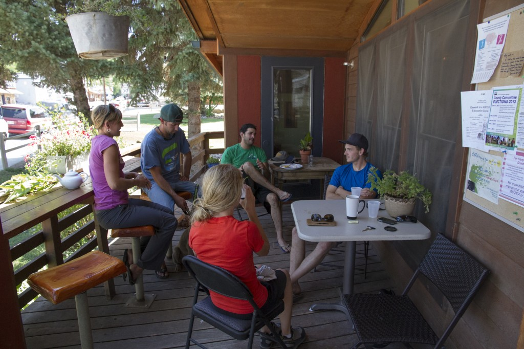 The coffee shop in the town of Ten Sleep.  A great place to grab some coffee on a lazy morning. Here we talked climbing with some new friends from Revelstoke.