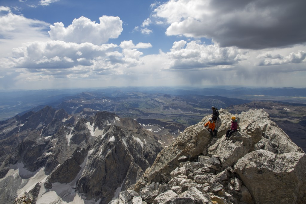 Michele, JP and Rob. Summit of the Grand Teton.
