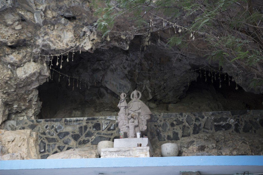 A cool shrine in the Virgin Canyon.
