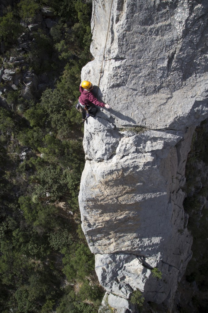 Robyn on Aguja Celo Rey (5.10+, 2 pitches)