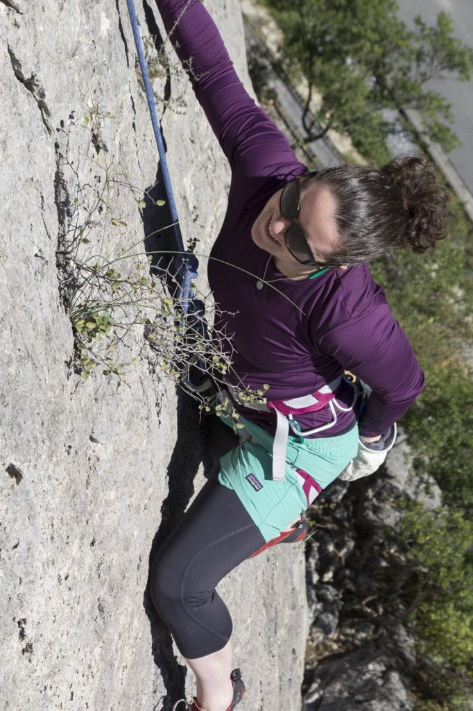 """Cora had some awesome conversations with other climbers about how she had just started climbing the year before. """"And you are flying to Potrero to climb?!"""" """"Yup!"""" Go big or go home."""