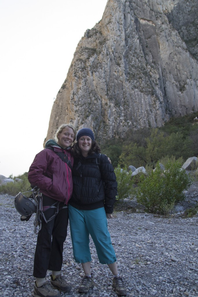 Robyn and Cora after another stellar day of climbing.