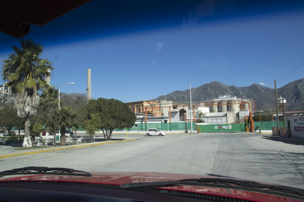 The Cemex Plant in the center of Hidalgo.