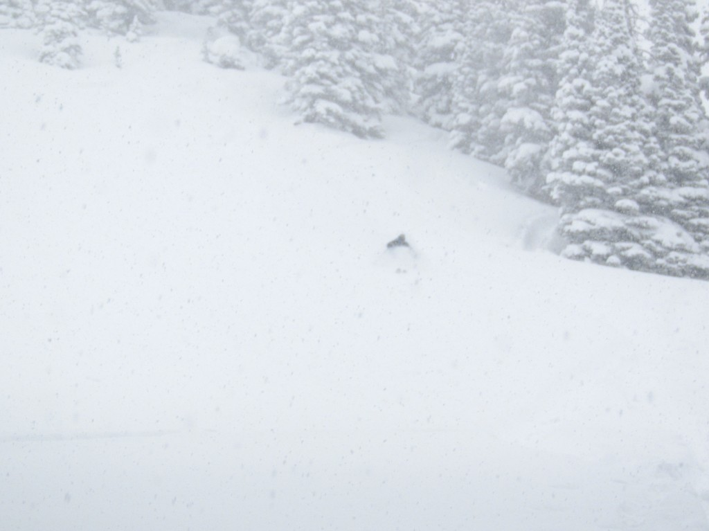 Bottomless powder. It snowed almost 4 feet here in 6 days. The deepest turns of my life. Upper Crystal River Valley.