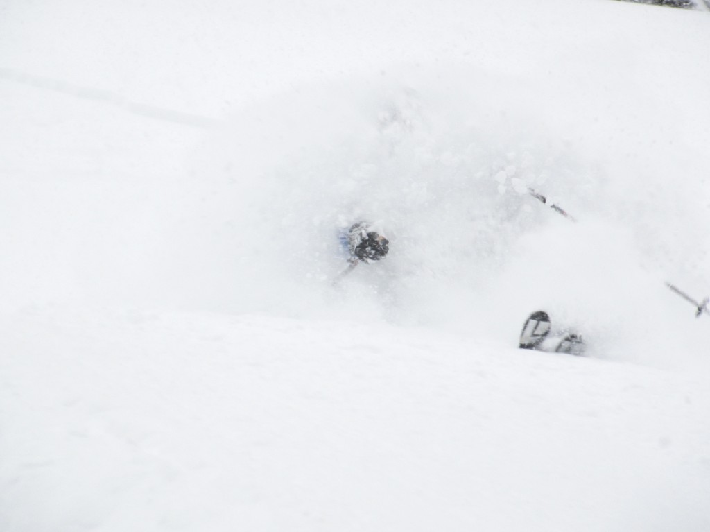 I tried to get a good pow shot of Todd, but he never seemed to surface.
