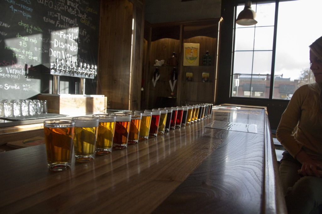 A record setting taster line up at Barley Browns.