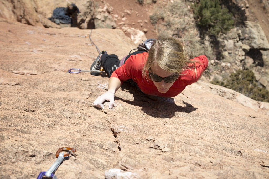 Robyn on Third Stage (5.10b)