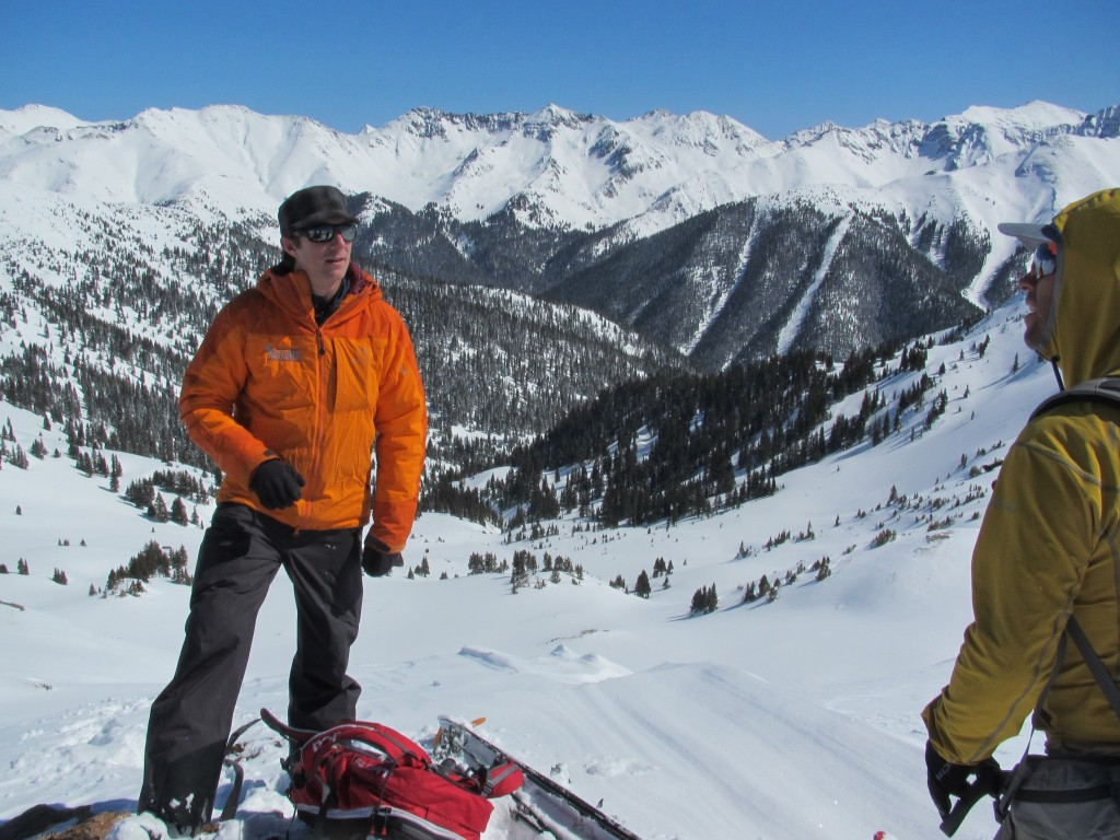 Ben teaching our AIARE Level 3 with Silverton Resort in the background. North San Juan Zone