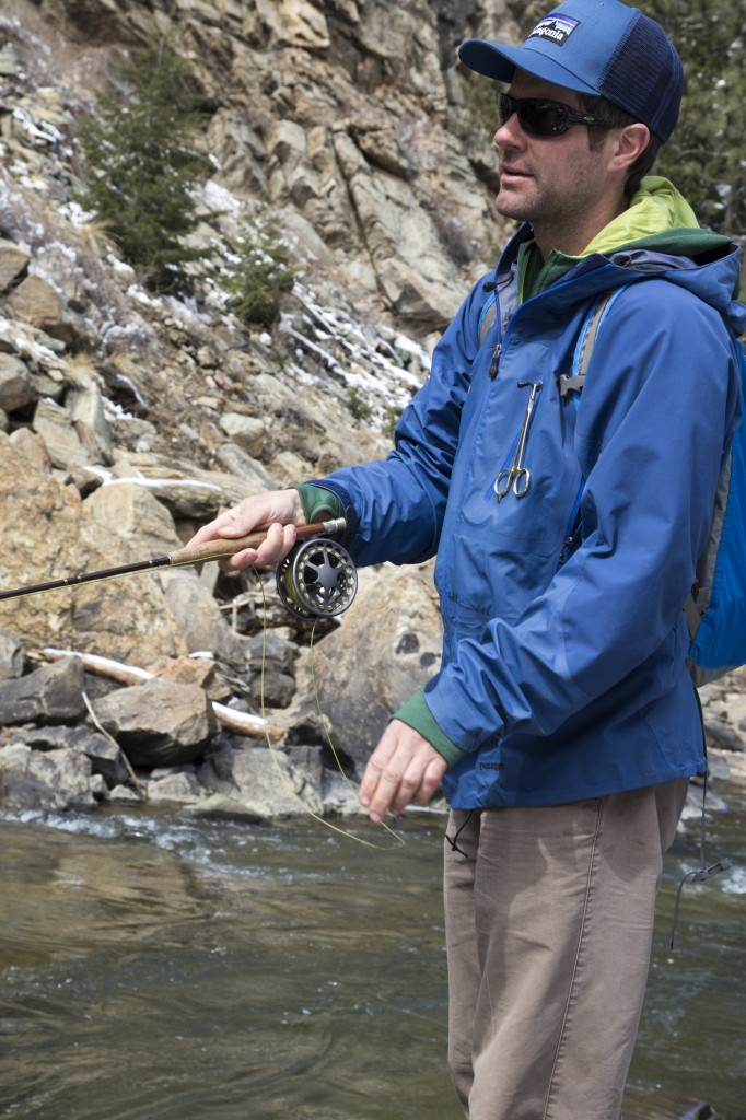 Ian giving me a fly fishing lesson on Clear Creek.