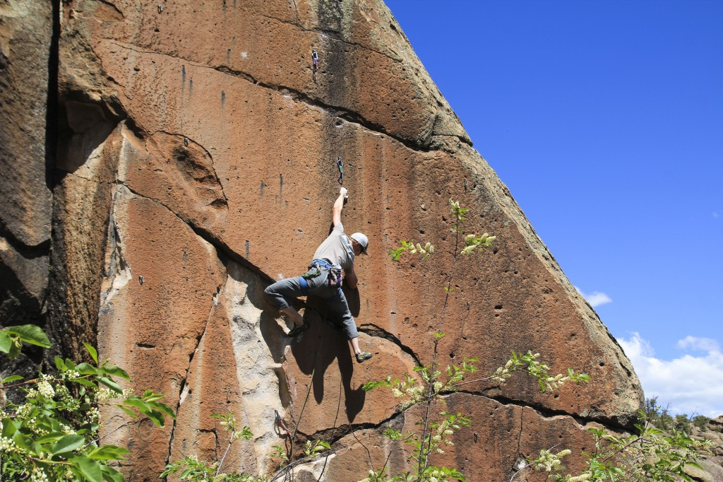 Sister of Mercy 5.12b at Penitente Canyon, CO.
