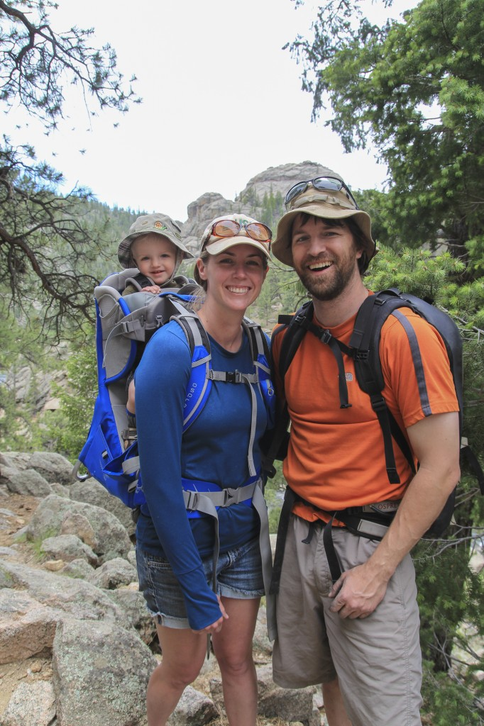 Mark and Kristi taking Garrett out on his first camping trip!