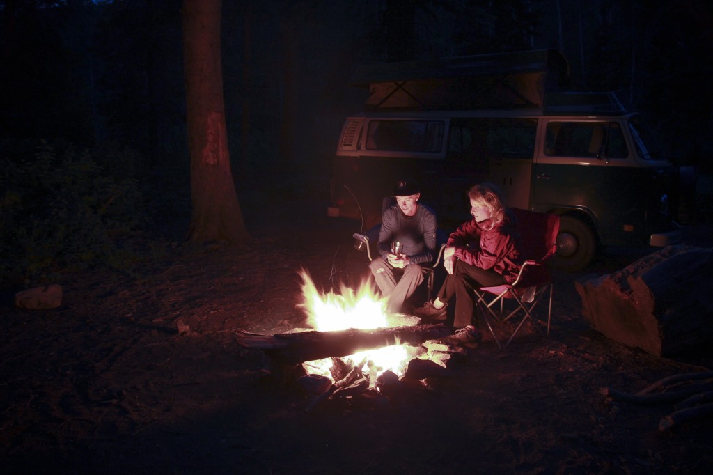 Playing with long exposures around the campfire.