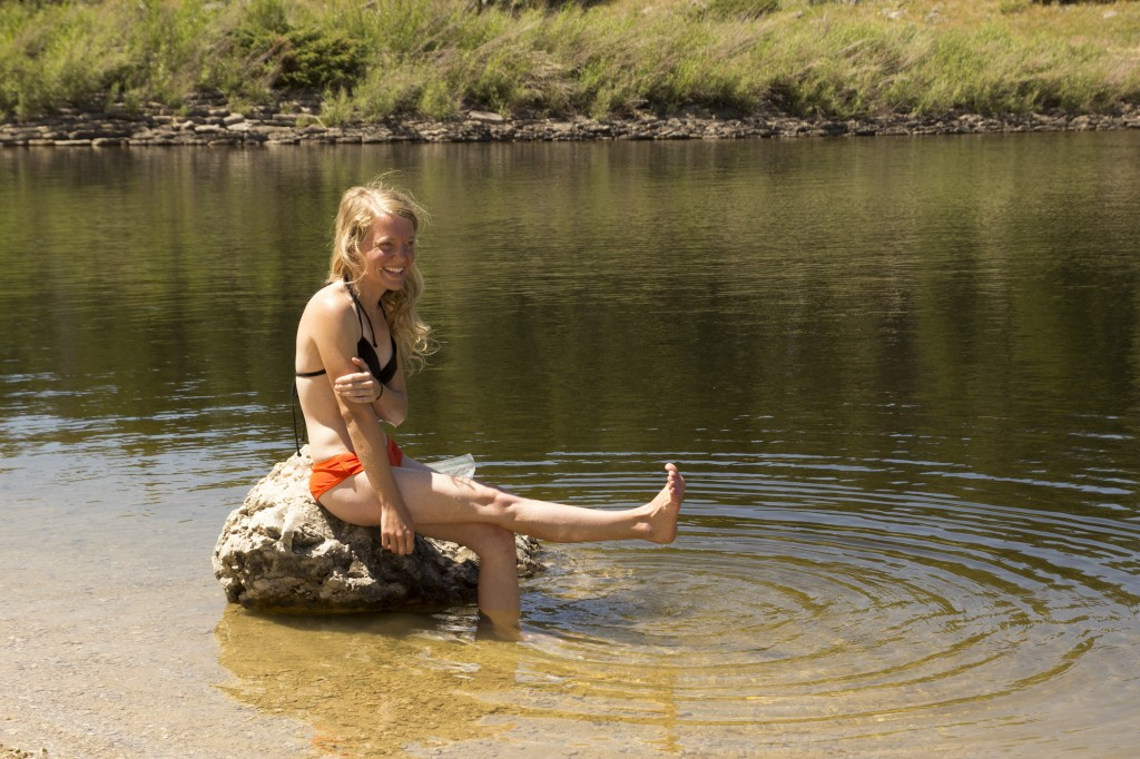 Who needs a shower when you can dip in an alpine lake?