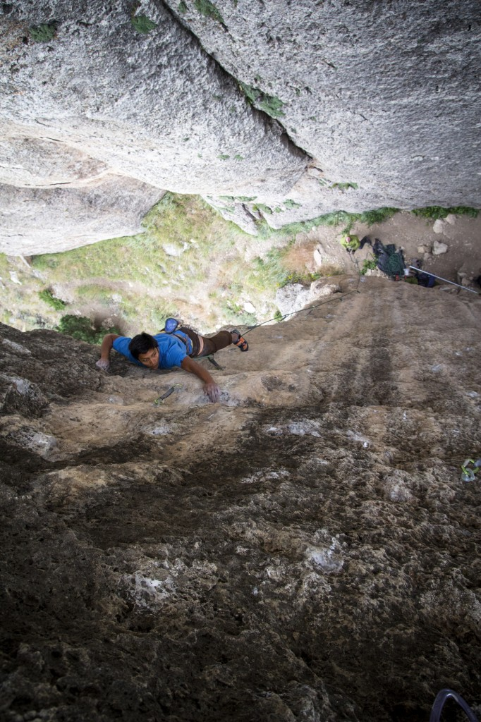 This is a series of some of my favorite shots of the trip. Coach on Gravy Train (5.12b).