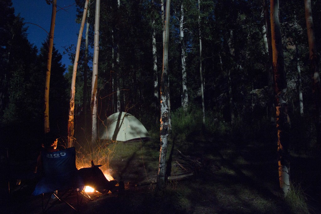 Camping at Devil's Head under a full moon.