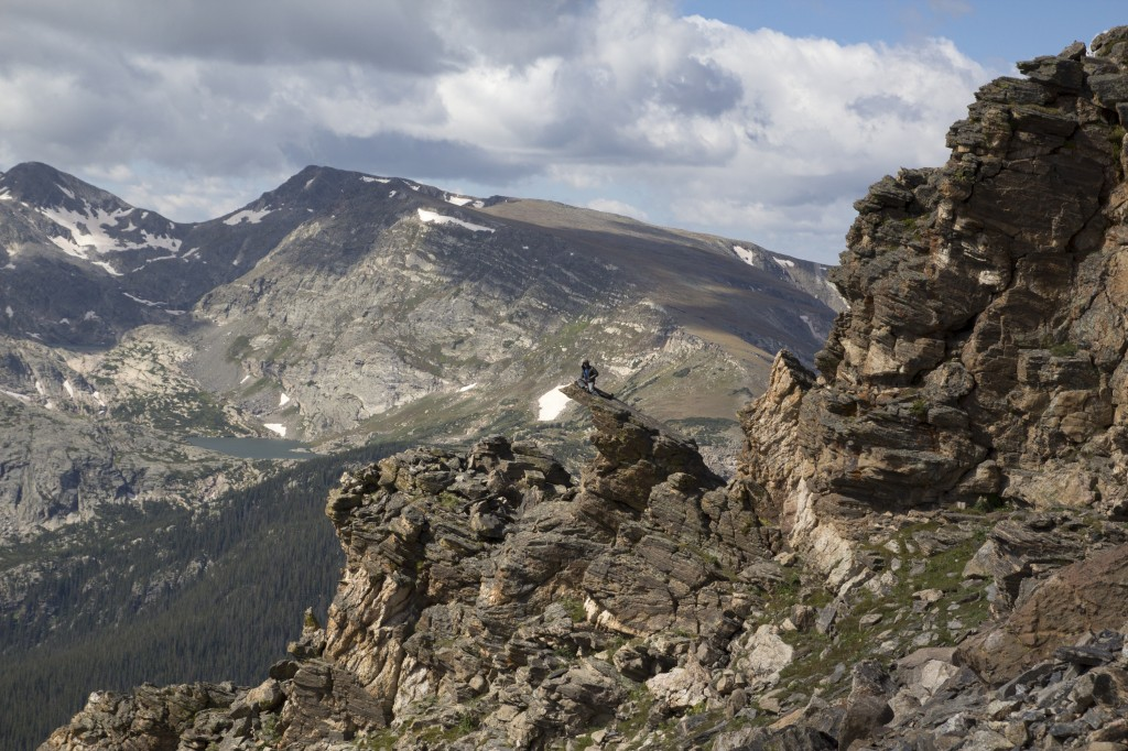Well I just kinda had to go scramble up there. Rocky Mountain National Park.