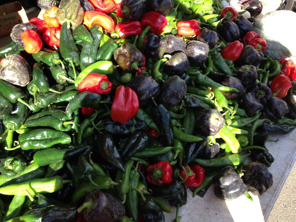 Look at that pile of peppers! The Golden Farmers' market is awesome!