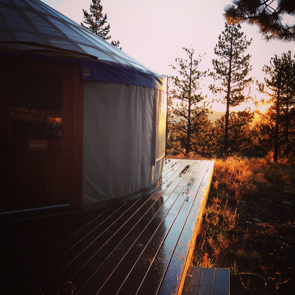 A beautiful sunrise during my WFR recent course. I got to stay a few nice nights here in this yurt all to myself!