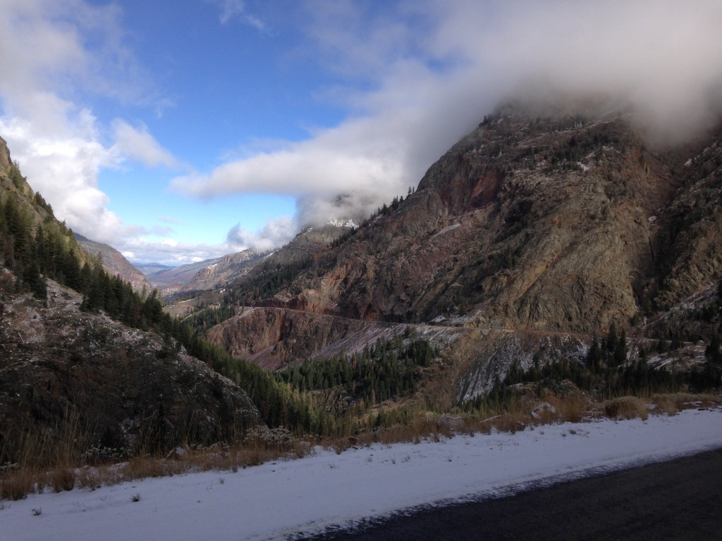 Driving toward Ouray, CO.