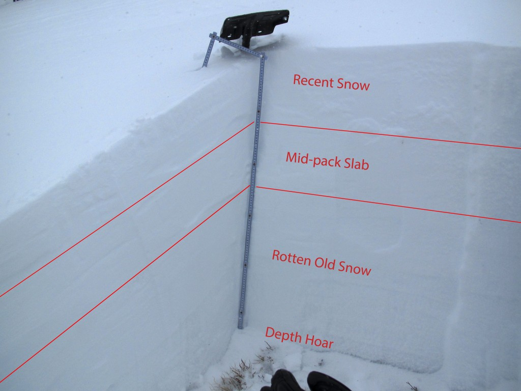 A picture to help the public see what's going on in the snow.