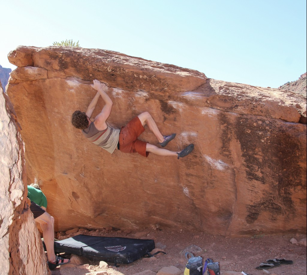 The last time I bouldered with Ben was in Moab last May.