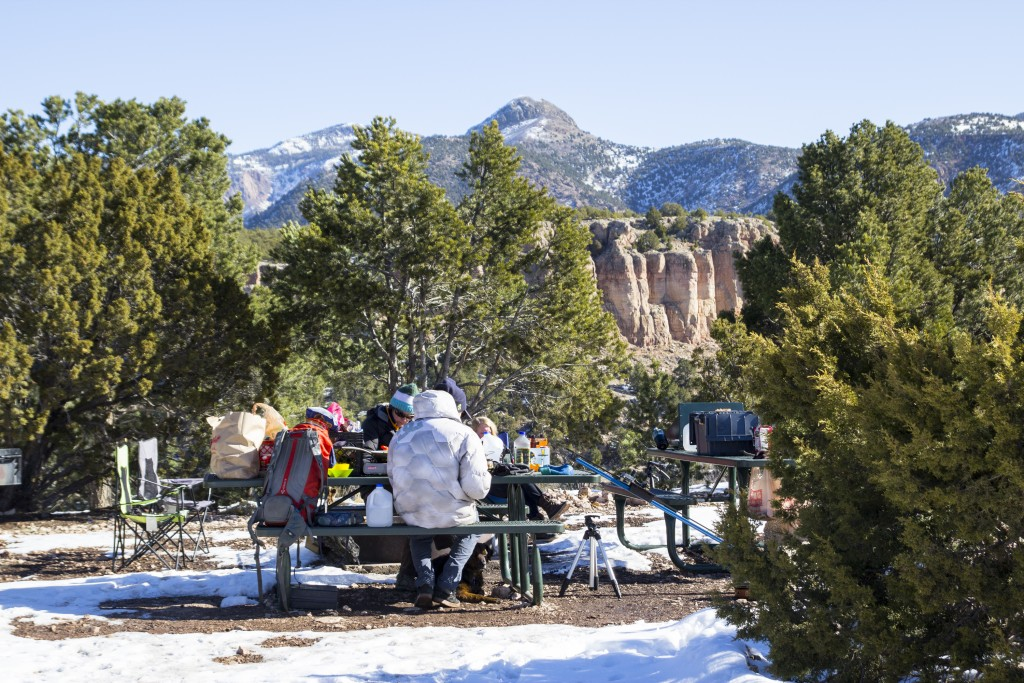 The group site at The Bank Campground - Shelf Road, CO