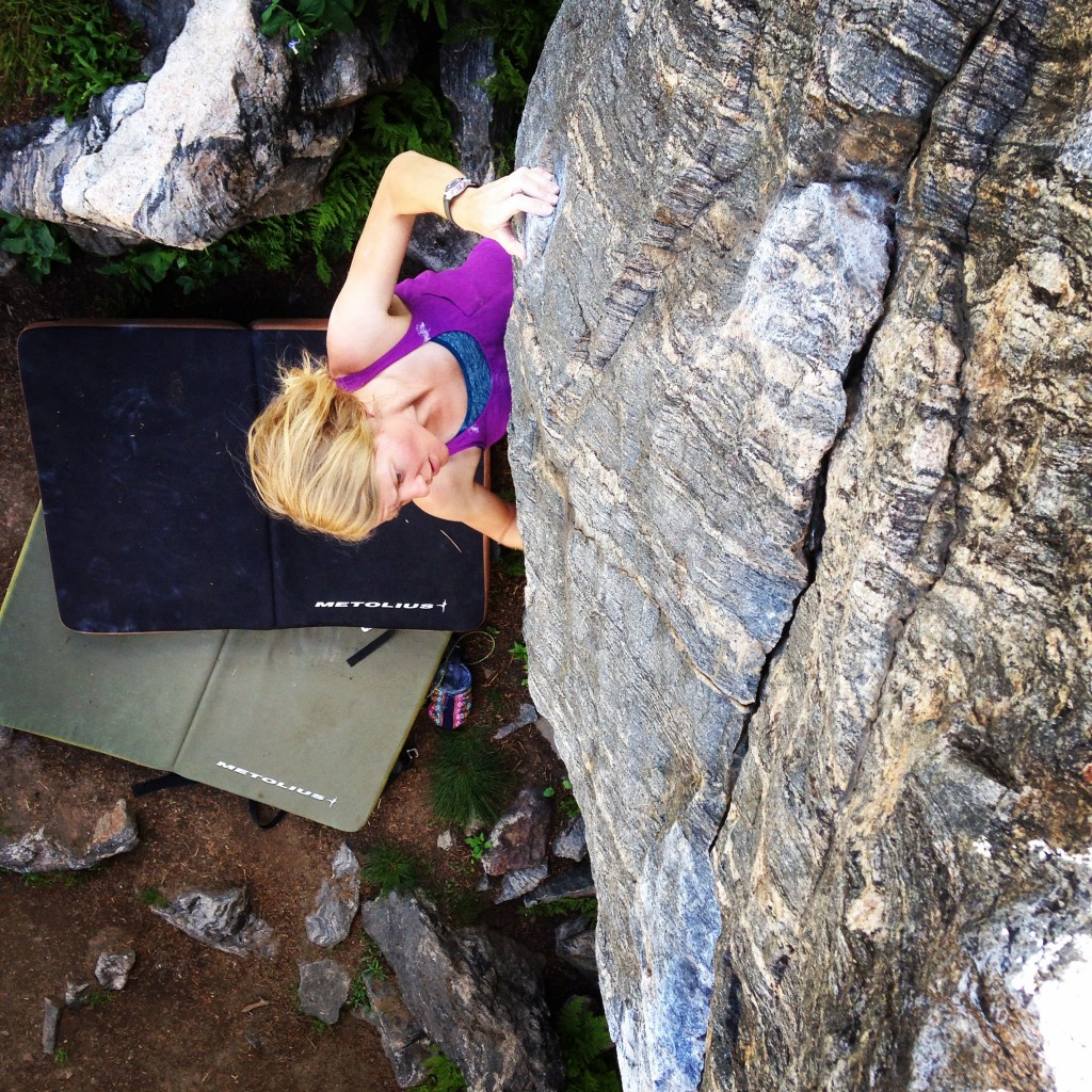 bouldering at RMNP. excellent stone with an awesome partner!