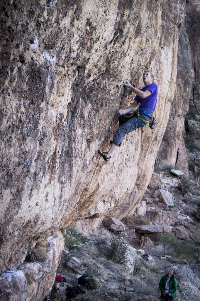 Ethan on My Generation (5.12d).