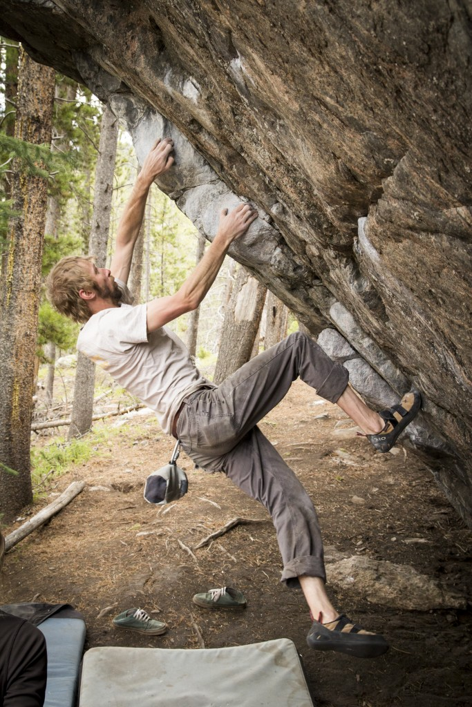 Andrew reeling in the gaston on a mega classic V6 near Red Cliff.