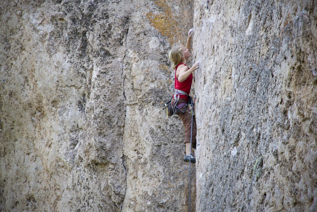 Bikini Girls and Machine Guns, a fantastic 5.11b at Ten Sleep.