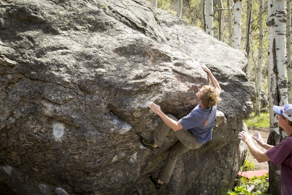 A cool boulder near Red Cliff, CO. We will be looking to get more bouldering in during the next month or so.