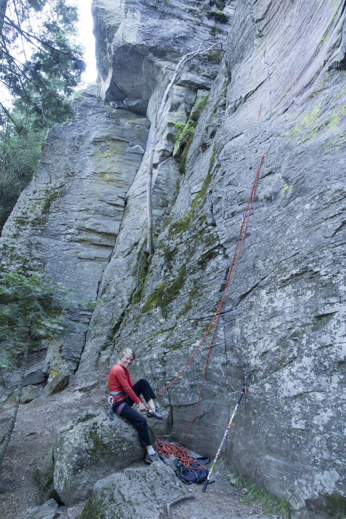 Who knew there was good climbing near LaGrande, Oregon? Some cool andesite climbing on Mt. Emily road.