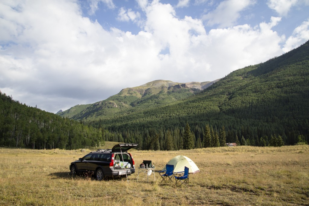 Beautiful camping on Engineer Pass, CO.