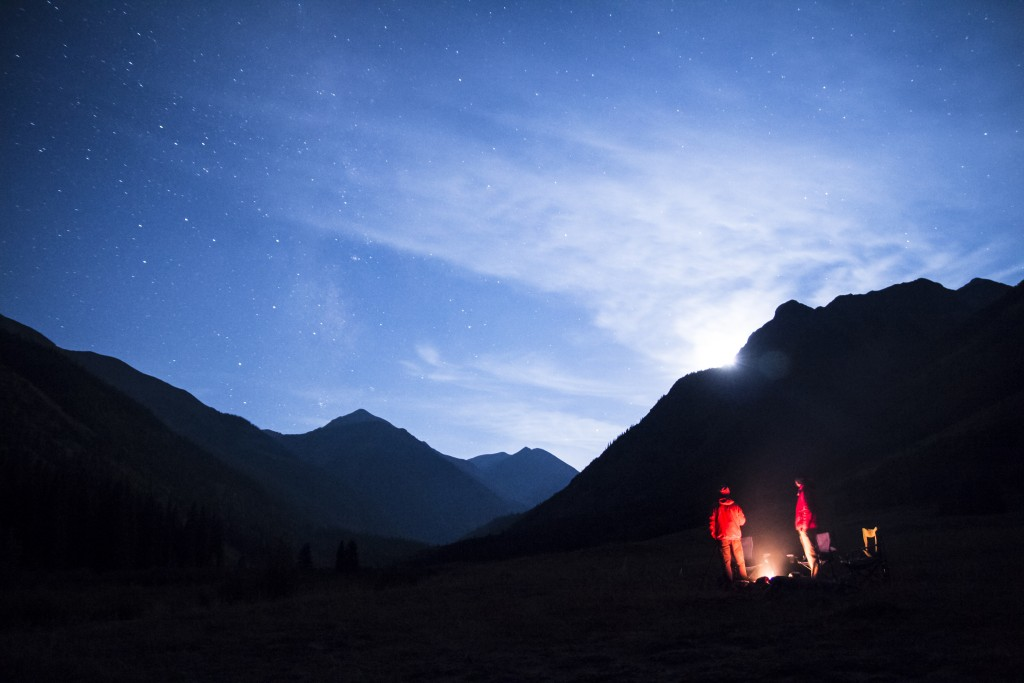 Moon-set over Engineer Pass, CO.