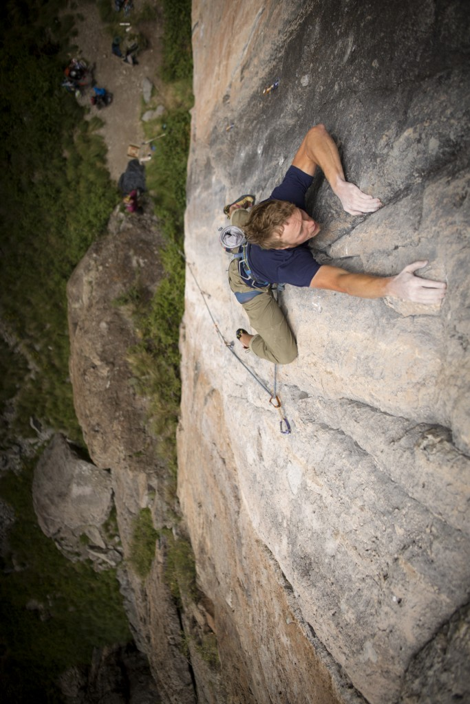 Sending Sterling Coach (5.12a/b). In my opinion, the best route on a stacked wall. Photo: Nate Liles