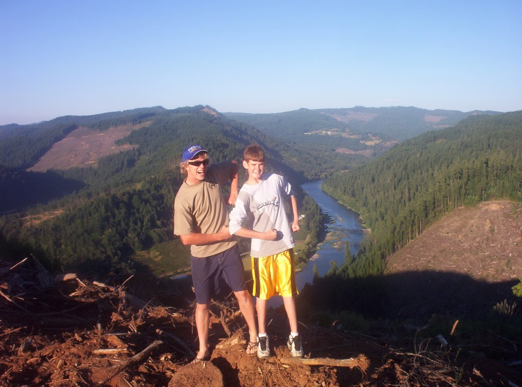 Ethan and his cousin Britton in 2005 somewhere in Southern Oregon.