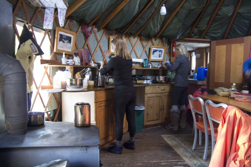 A lazy morning of coffee as the fire roared in the Boulder Yurt.