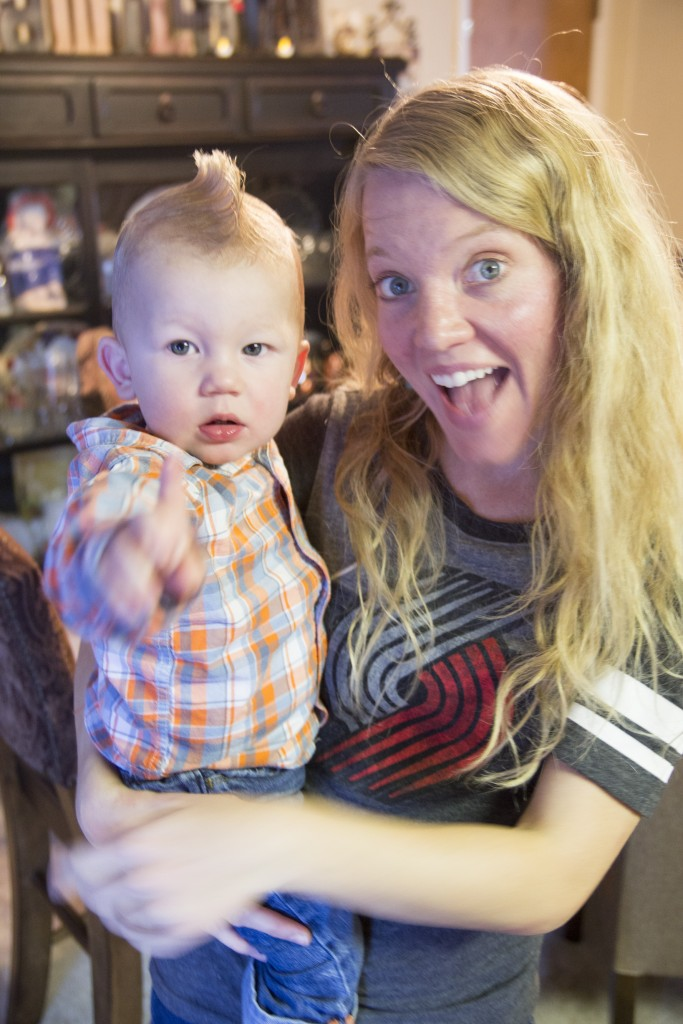 Hudson and Aunt Robyn.