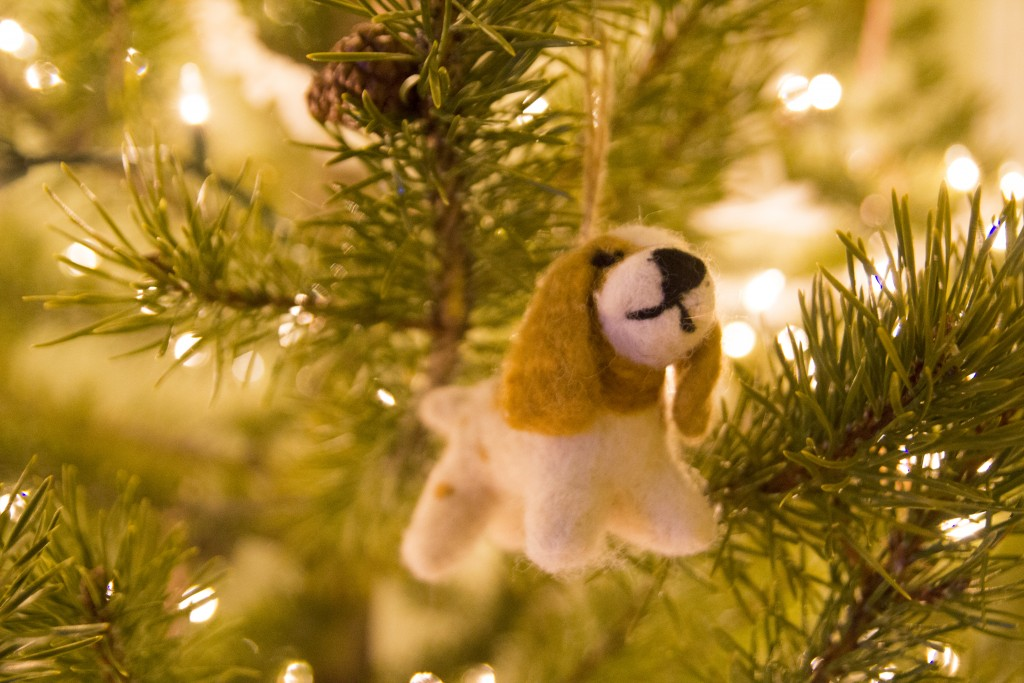 Our annual Christmas ornament. After some half-hearted selections Robyn came across this little Chossy lookalike!