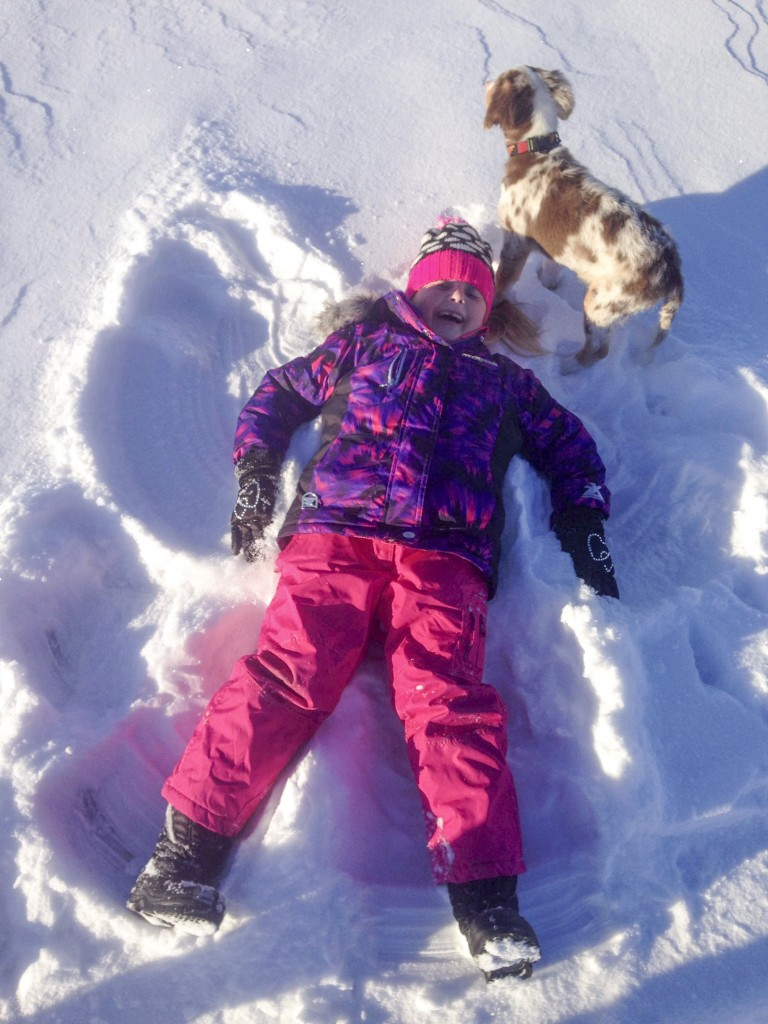 Addi making a killer snow angel!!